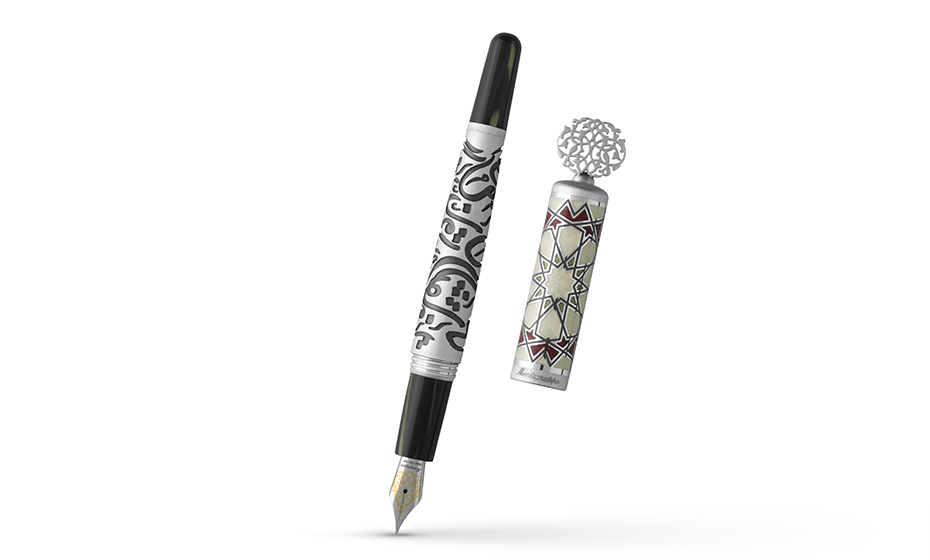Перьевая ручка Montegrappa Каллиграфия, перо F, серебро, арабская глазурь, че  CALLIG