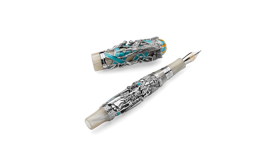 Перьевая ручка Montegrappa Ангел Хранитель, перо F, целлулоид нежно-облачного  GANGEL-FP