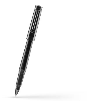 Чернильная ручка Montegrappa Parola Stealth, смола, рутений, черная  PAROLA-ST-RB