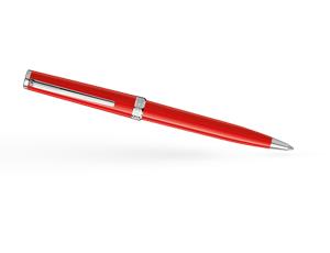 Шариковая ручка Montblanc PIX, смола, платиновое напыление, коралловая  114814