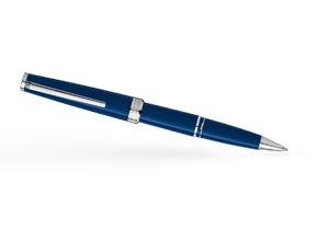 Чернильная ручка Montblanc PIX, синяя, смола, платиновое напыление  114809