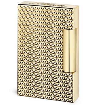 Зажигалка S.T. Dupont FIRE HEAD LIGNE 2, желтое золото, узор  16433