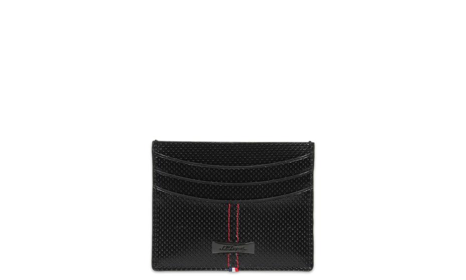 Чехол для кредитных карт S.T. Dupont McLaren, кожа, черный  170406MC