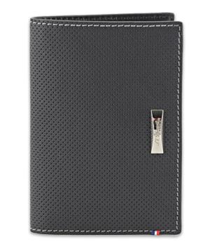Бумажник S.T. Dupont Defi, перфорированная кожа, черный  170415