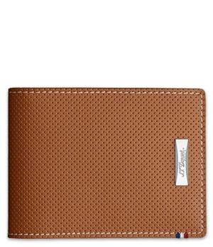 Бумажник S.T. Dupont Defi, перфорированная кожа, рыжий  170501