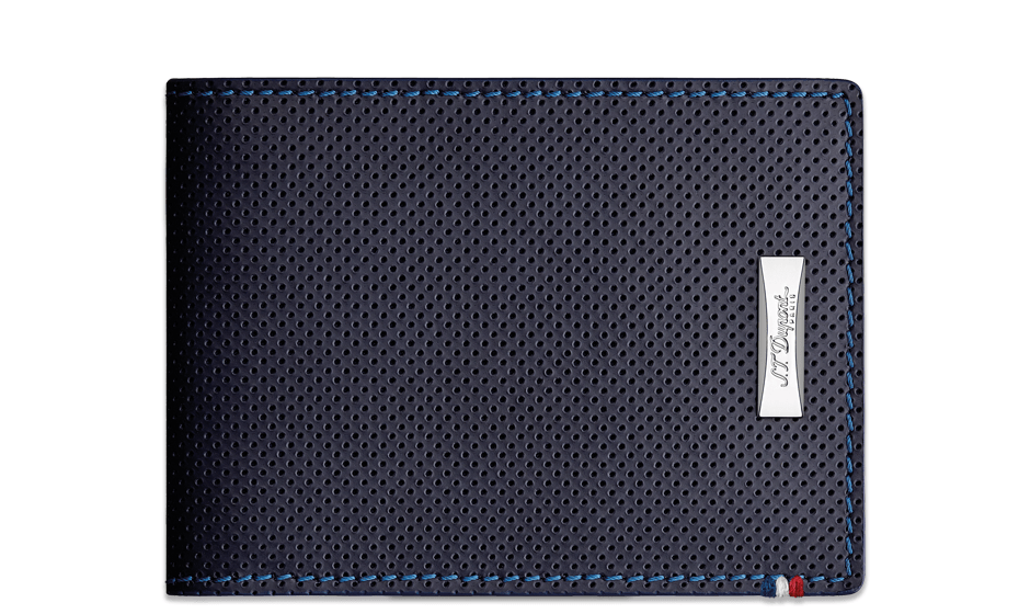 Бумажник S.T. Dupont Defi, перфорированная кожа, синий  170601