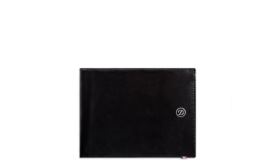 Бумажник S.T. Dupont Line D, кожа, черный  180003