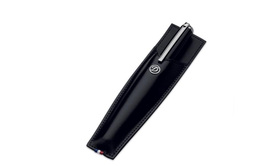 Чехол для ручки S.T. Dupont Line D, кожа, черный  180016