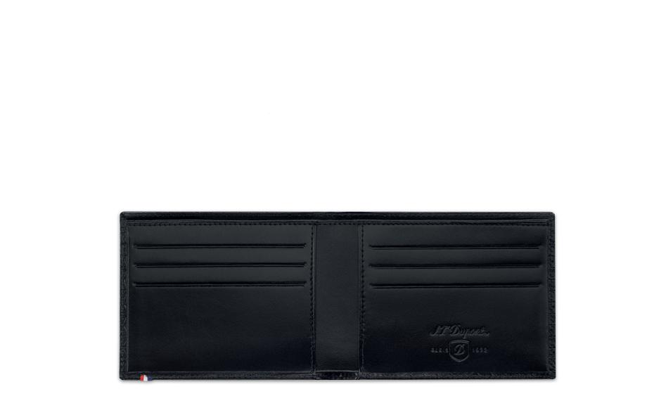Бумажник S.T. Dupont Fire Head, кожа с тиснением, черный  180090