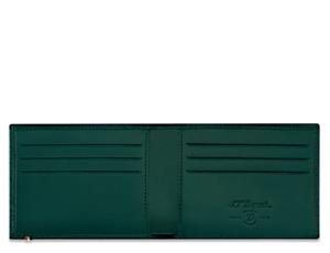 Бумажник S.T. Dupont Fire Head, для кредитных карт, кожа, тиснение, зел  180093
