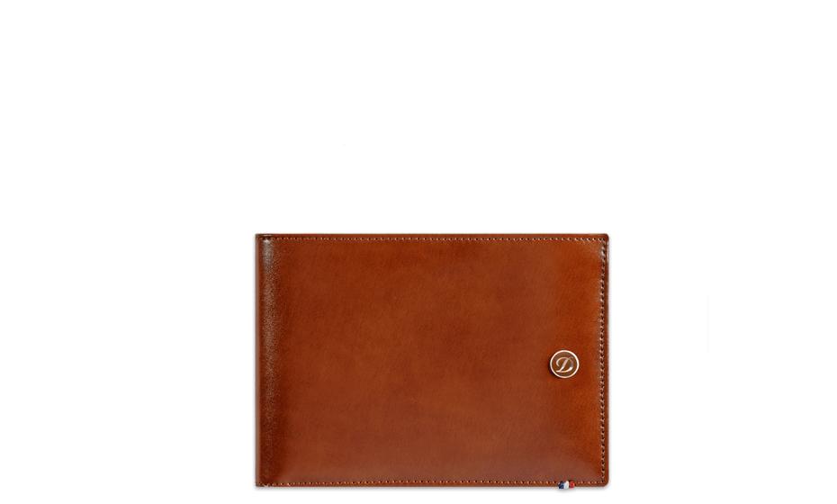 Бумажник S.T. Dupont Elysee, кожа, коричневый  180100