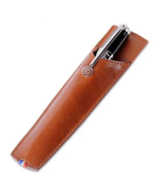 Чехол S.T. Dupont Line D отделка кожей Elys?e, для ручки, коричневый  180116