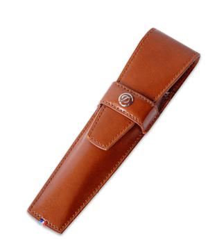 Чехол S.T. Dupont Line D кожа Elys?e, с клапаном, для ручки, коричне  180117