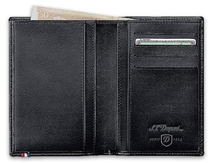 Бумажник S.T. Dupont Contraste, кожа, черный  180304