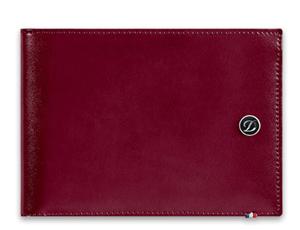 Бумажник S.T. Dupont Line D, кожа, вишневый  180600