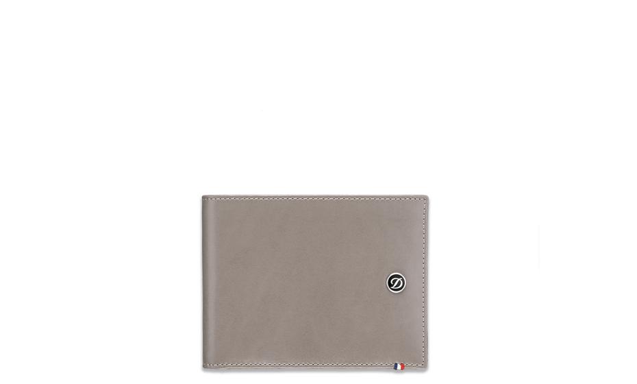 Бумажник S.T. Dupont Line D, кожа, серо-коричневый  180700 180700