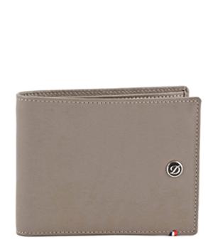 Бумажник S.T. Dupont Line D, кожа, серо-коричневый  180700