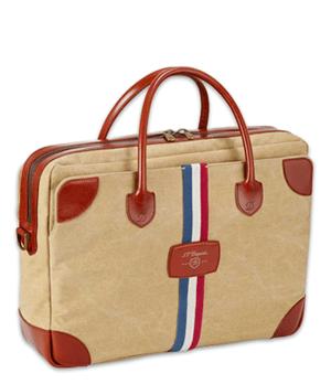 Сумка S.T. Dupont Cosie Bag, для документов, ткань, коричневая кожа,  191020