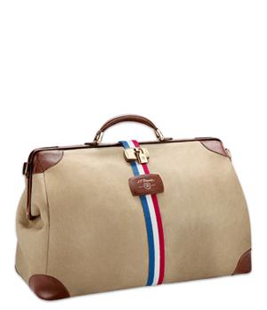 Сумка S.T. Dupont Cosie Bag, дорожная, ткань, кожа, бежевая  191100