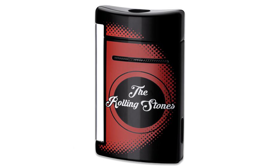 Зажигалка S.T. Dupont Rolling Stones, мини, черный, хром  10110
