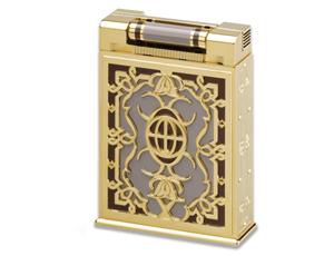 Зажигалка S.T. Dupont New York, бриллианты, фиолетовая эмаль  16055