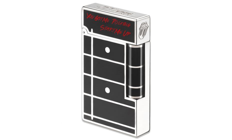 Зажигалка S.T. Dupont Rolling Stones, латунь, черный лак, палладий  16153