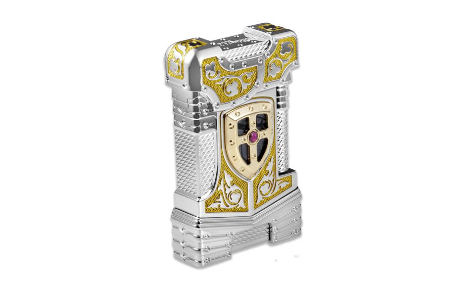 Зажигалка S.T. Dupont White Knight, камень Пикассо, рубин  16247 16247