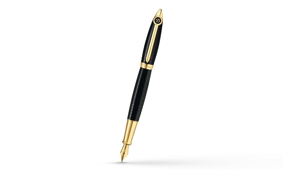 Перьевая ручка S.T. Dupont Streamliner, желтое золото  251675