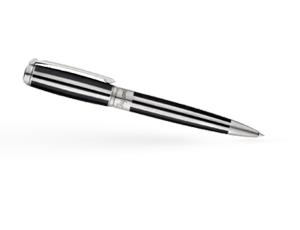Шариковая ручка S.T. Dupont Elysee S.T.Dupont, Black / Silver, черный лак  415683