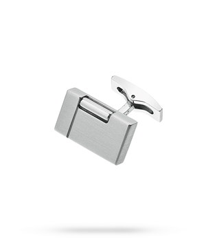 Запонки S.T. Dupont S.T. Dupont, форма зажигалки, матовый палладий  5369