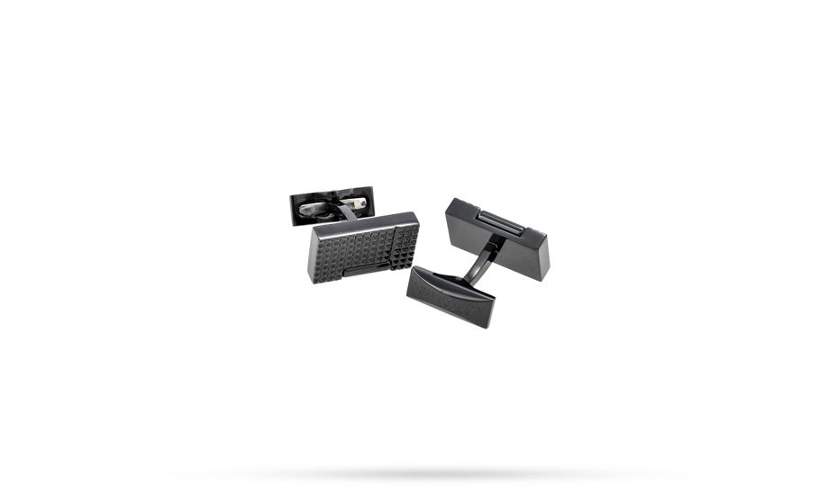 Запонки S.T. Dupont S.T. Dupont, прямоугольные, сталь, черныое PVD-пок  5370N