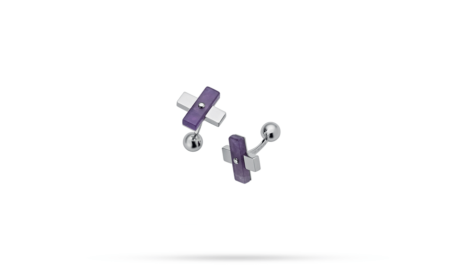 Запонки S.T. Dupont S.T. Dupont, форма креста, аметист, фиолетовый  5456