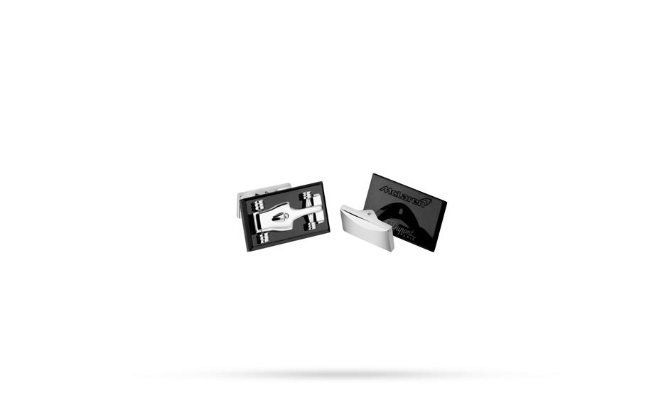 Запонки S.T. Dupont McLAREN 2016, прямоугольный, черный  5526