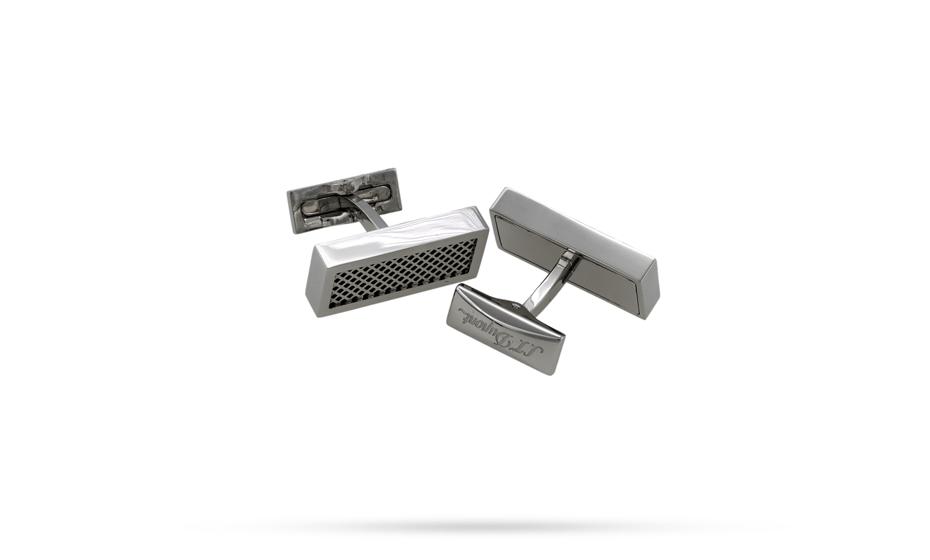 Запонки S.T. Dupont Defi, прямоугольные, стальной  5631