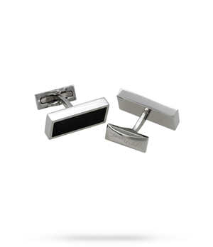 Запонки S.T. Dupont Defi, прямоуголяные, сталь, черный  5632