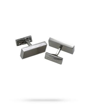 Запонки S.T. Dupont Defi, прямоугольные, сталь, бежевый  5633
