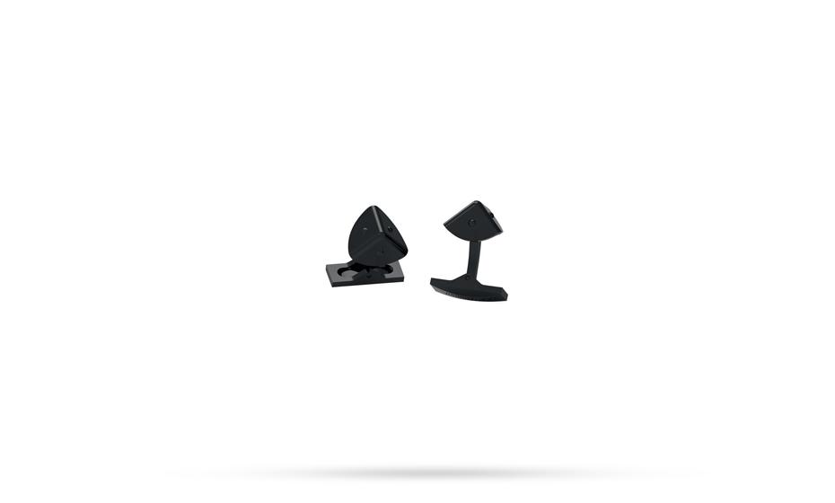 Запонки S.T. Dupont S.T.Dupont, пирамида, черное PVD-покрытие  5752