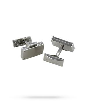 Запонки S.T. Dupont ST Dupont Etiquette, прямоугольные, серебро  5762