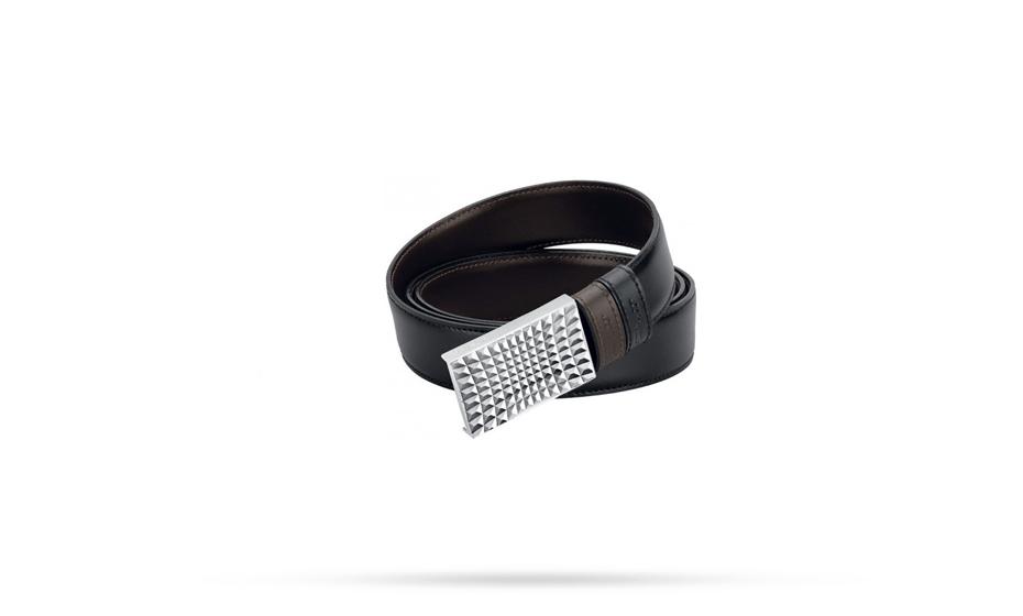Ремень S.T. Dupont Business Chic S.T. Dupont, кожа, черный-коричневый  7680120