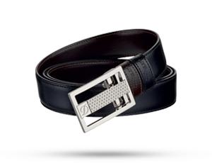 Ремень S.T. Dupont BUSINESS FIREHEAD, кожа, черный-коричневый  8010120