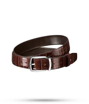 Ремень S.T. Dupont LINE D, кожа с тиснением под крокодила, коричневый  8200152