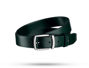 Ремень S.T. Dupont FIREHEAD LINE D, кожа с тиснением, темено-зеленый  8210800