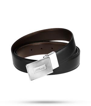 Ремень S.T. Dupont кожа, черный-коричневый  9430120