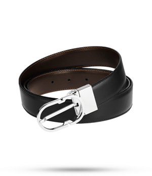 Ремень S.T. Dupont S.T. Dupont, кожа, черный-коричневый  9460120