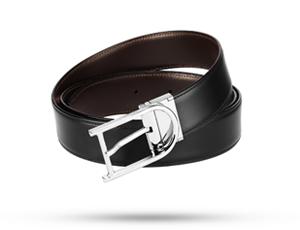 Ремень S.T. Dupont Line D Business, кожа, черный-темно-коричневый  9470120