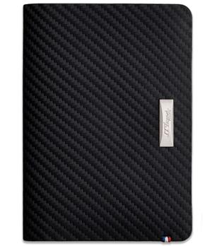 Портмоне S.T. Dupont Defi carbon, кожа, черный  170015