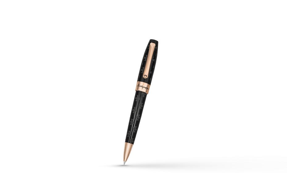 Шариковая ручка Montegrappa Fortuna Грузия, черная, палладий  FORT-GRC-BP-1