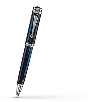 Шариковая ручка Montegrappa Ducale Murano, Mare (Steel & Blue), смола, синяя,  DUCB-IF