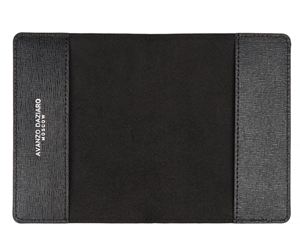 Обложка для паспорта Avanzo Daziaro SAFFIANO, кожа, горох на черном  AD-019-1019PDB'