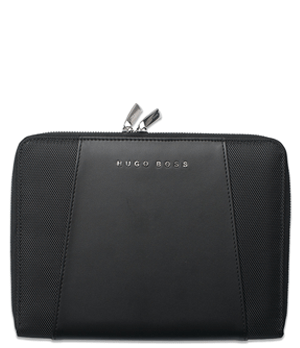 Папка Hugo Boss Keystone Black,  А5, экокожа, на молнии  HTM602A